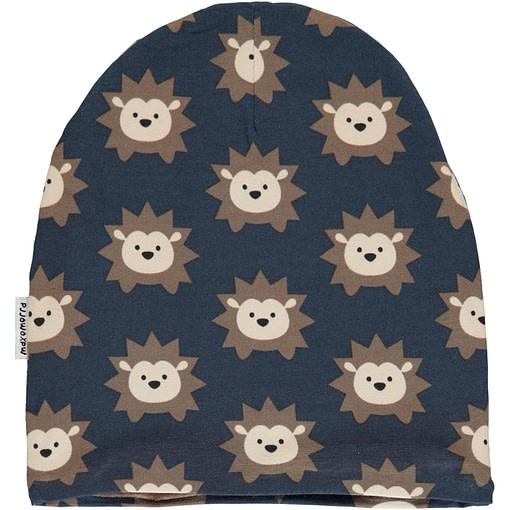 Hedgehog organic cotton with velour inner beanie hat ~ Maxomorra (48/50) 1
