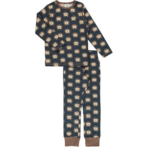 Maxomorra hedgehog print on organic cotton pyjamas (98-104cm 2-4 years) 1