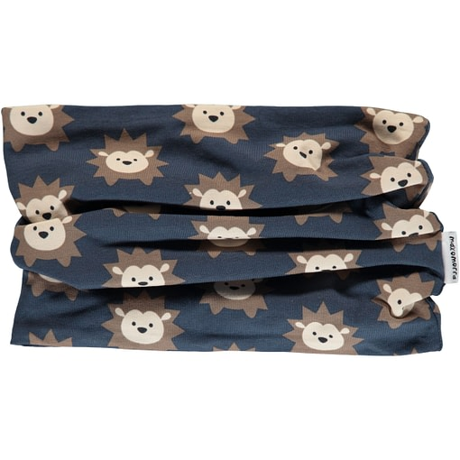 Hedgehog tube scarf in cotton with velour inner by Maxomorra 1