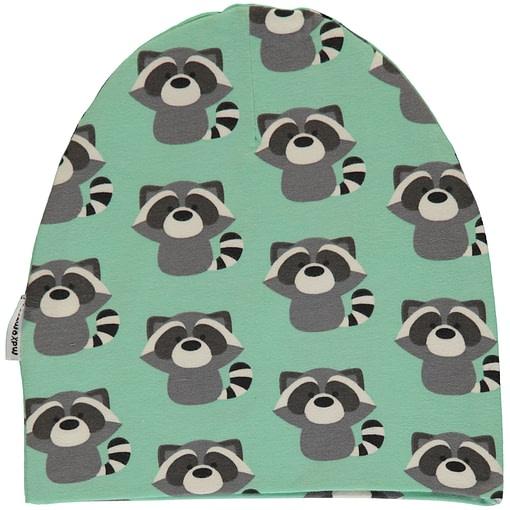Raccoon organic cotton with velour inner beanie hat | Maxomorra (48/50) 1