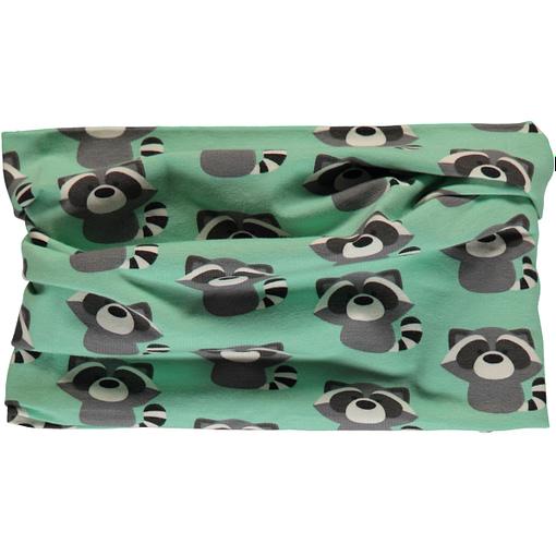 Raccoon organic cotton tube scarf from Maxomorra (86/92cm toddler) 1