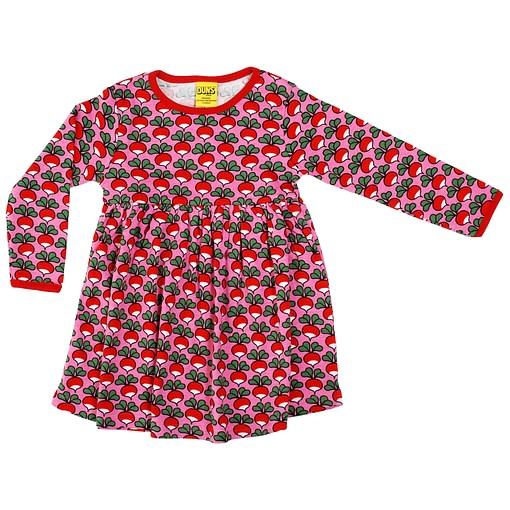 DUNS Sweden radish print on pink organic cotton twirly dress (104cm 3-4Y) 1
