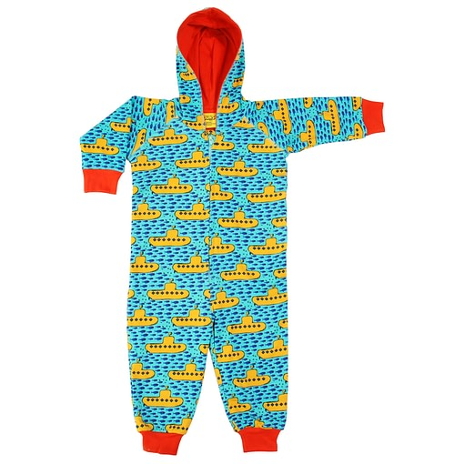 DUNS Sweden submarines print onesie suit with hood (134/140 Age 8-10) 1
