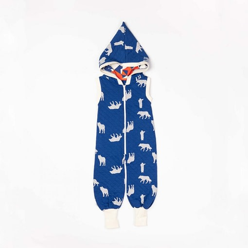 Mio Jumpsuit in solidate blue wolves print by Alba of Denmark 1