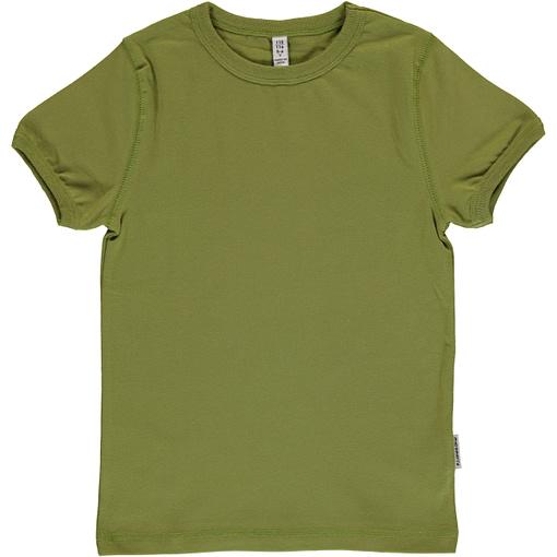 Plain apple green organic short sleeve t-shirt by Maxomorra (110-116cm age 5-6) 1