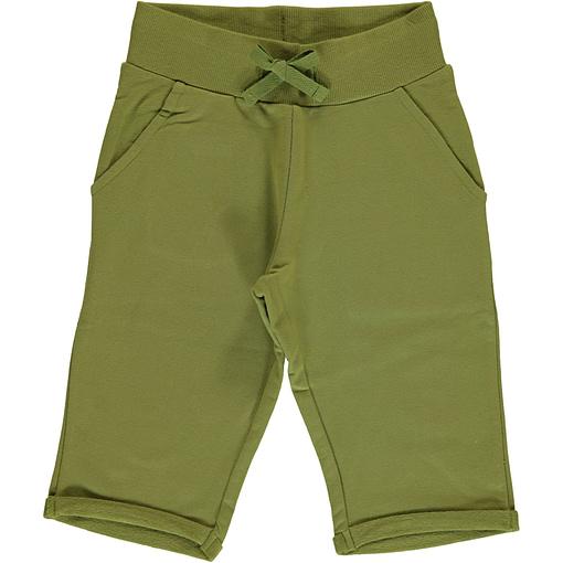 Maxomorra apple green knee length organic cotton shorts ~ Maxomorra Basics 1