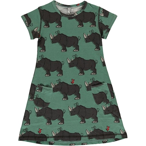 Rhino organic cotton short sleeve dress ~ Maxomorra (3-4 98/104) 1