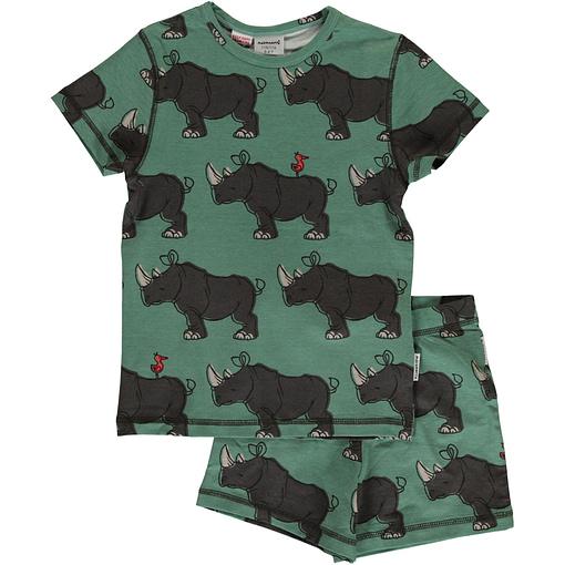 Maxomorra rhino organic short sleeve summer pyjamas (98-104cm 2-4) 1