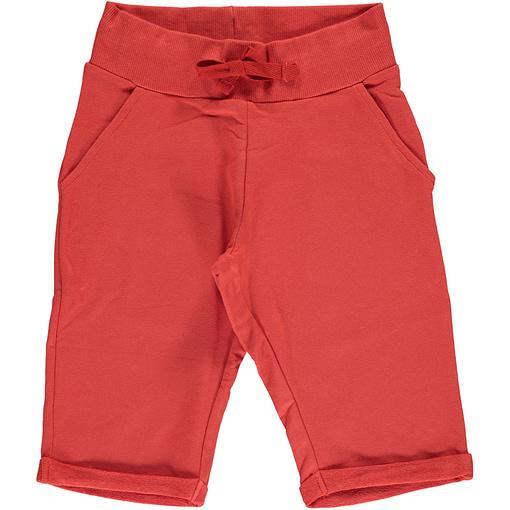 Maxomorra rusty red knee length organic cotton shorts ~ Maxomorra Basics 1