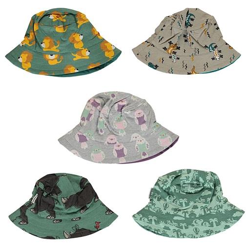 Maxomorra sun hat in organic cotton | Lizard 1