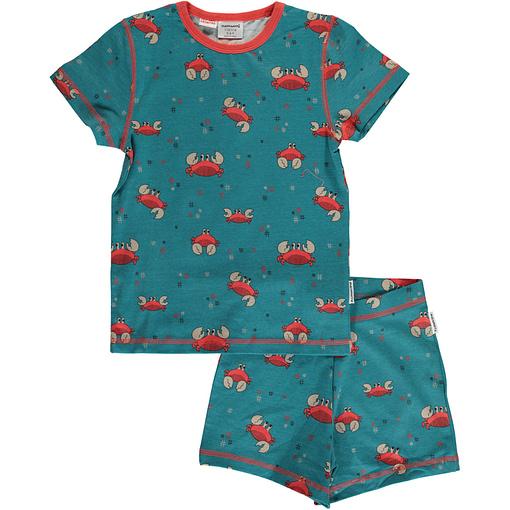 Maxomorra crab organic short sleeve summer pyjamas (86/92 18-24m) 1