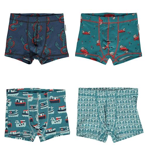 Maxomorra organic cotton boxers | Crab | Trawler | Sail boat 86/92 1