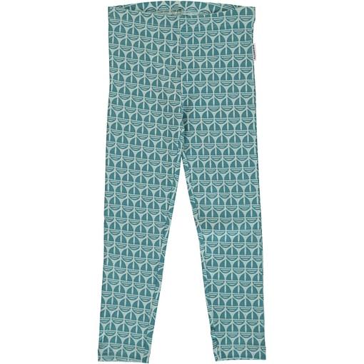 Sail boat organic cotton leggings ~ Maxomorra Mono range 1
