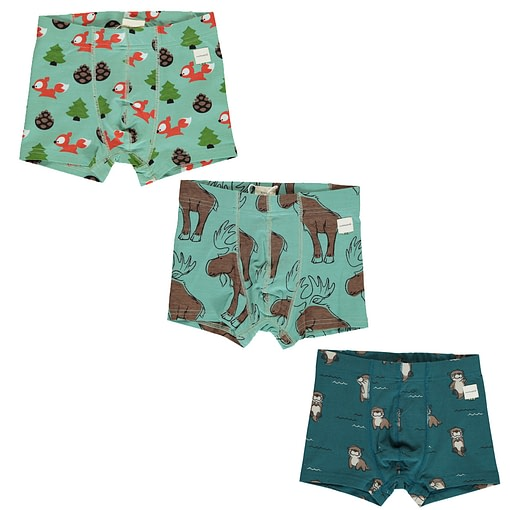 Maxomorra organic cotton boxers | Busy Squirrel | Mighty Moose | Curious Otter 1