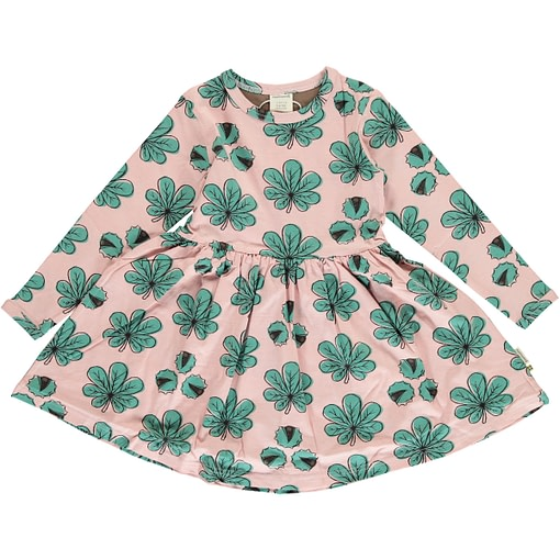 Chestnut organic cotton twirly dress with long sleeves from Maxomorra (98-104cm Age 3-4) 1