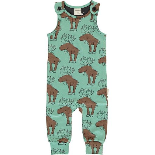 Mighty moose organic cotton dungarees - Maxomorra 1
