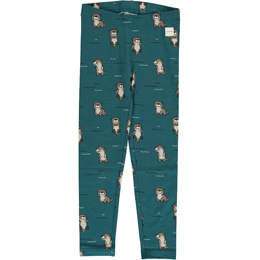 Curious otter organic cotton leggings from Maxomorra 1
