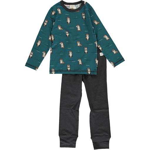 Curious otter organic cotton pyjamas by Maxomorra 1