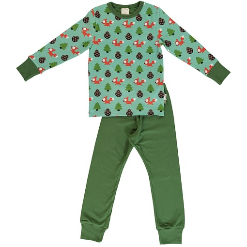 Busy squirrel print on organic cotton pyjamas ~ Maxomorra (110/116 Age 5-6) 1