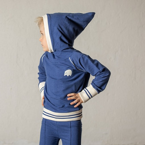 Habian hoodie in Blueprint by Alba of Denmark (104cm Age 3-4) 3