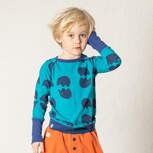 *seconds* Henrik blouse in blueprint cutie hedgehocks design by Alba of Denmark (86cm 12-18m) 3