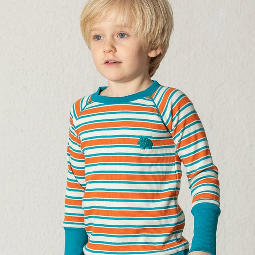Henric blouse in rust magic stripes by Alba of Denmark 4
