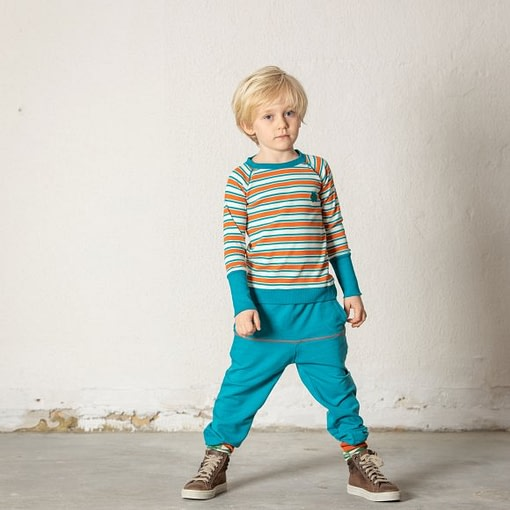 Henric blouse in rust magic stripes by Alba of Denmark 3