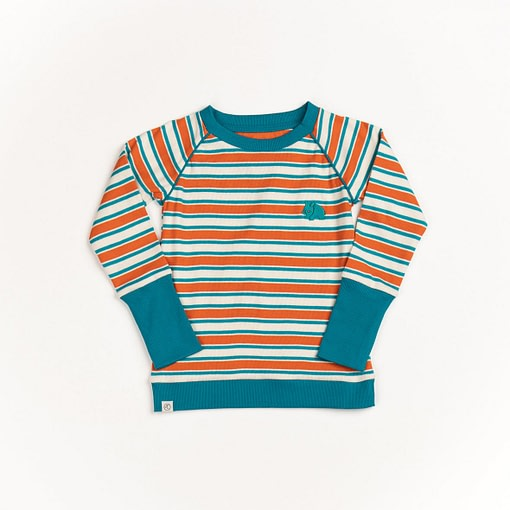 Henric blouse in rust magic stripes by Alba of Denmark 1