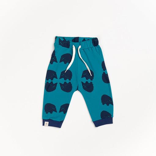 Lucca Baby Pants in Cutie blueprint hedgehocks design by Alba of Denmark (86cm 12-18m) 1