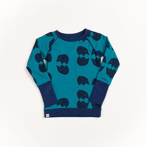 *seconds* Henrik blouse in blueprint cutie hedgehocks design by Alba of Denmark (86cm 12-18m) 1