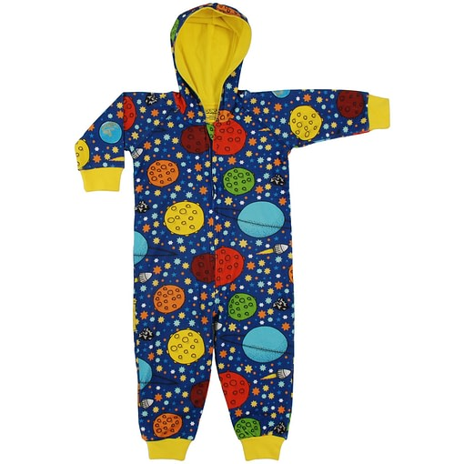 DUNS Sweden Lost in Space on navy hooded onesie playsuit 110-116 cm Age 5-6 1