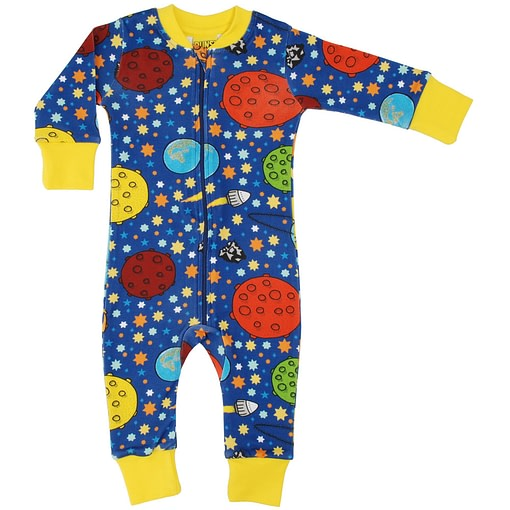 DUNS Sweden Lost in Space design organic cotton zipped onesie 1