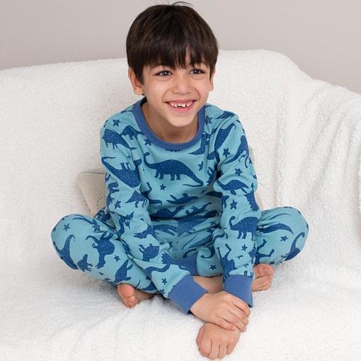 Dino star print pyjamas in organic cotton by Kite 2