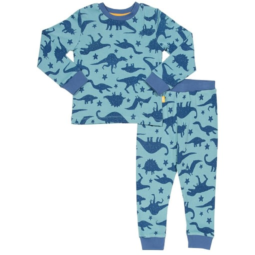 Dino star print pyjamas in organic cotton by Kite 1