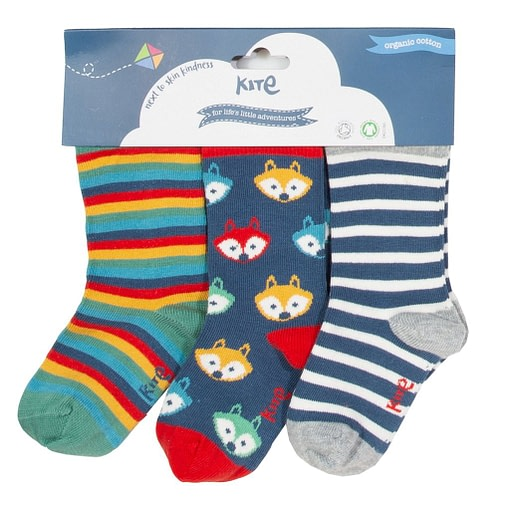 Foxy socks in organic cotton by Kite - 3 pack 1
