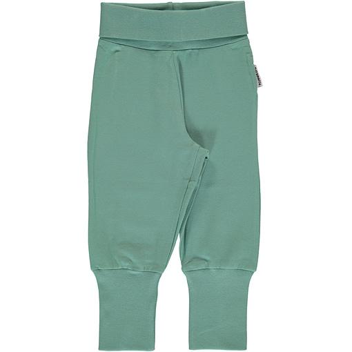 Maxomorra pale army green rib pants organic cotton ~ Basics 1