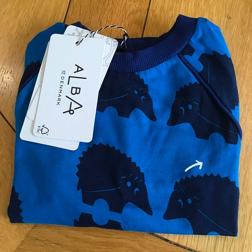 *seconds* Henrik blouse in blueprint cutie hedgehocks design by Alba of Denmark (86cm 12-18m) 5