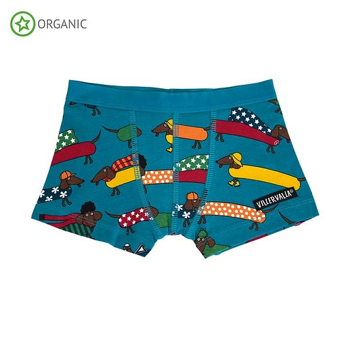Villervalla organic cotton boxers - Dachshund atlantic 1