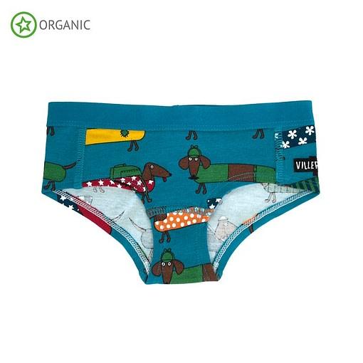 Villervalla organic cotton knickers - Dachshund atlantic 1