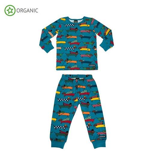 Villervalla organic cotton pyjamas dachshund print on atlantic 1