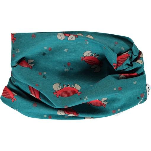 Organic cotton crab tube scarf Maxomorra 1