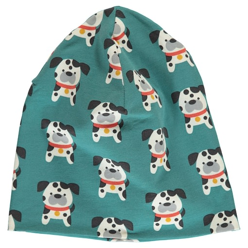 Dalmation buddy organic cotton beanie hat from Maxomorra (48/50 Under 2) 1