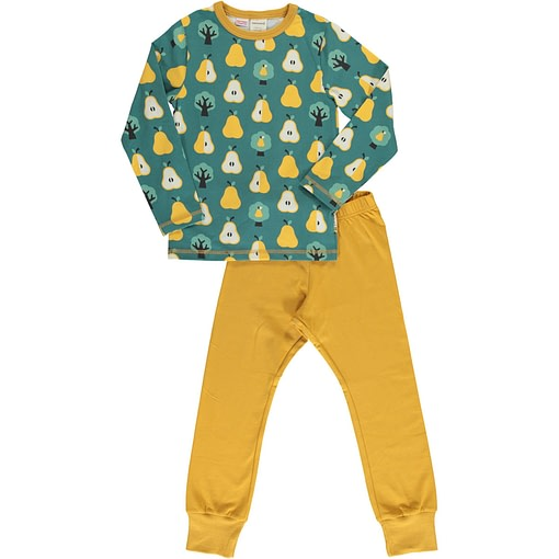 Golden pear organic cotton pyjamas by Maxomorra 1