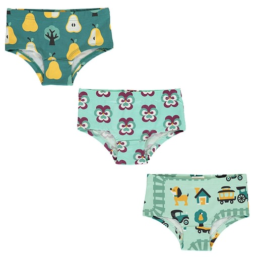 Maxomorra organic cotton hipster knickers | Purple Pansy | Old Town | Golden Pear 1