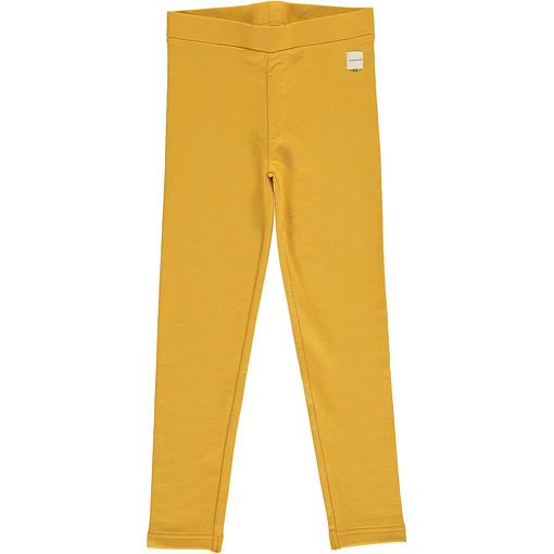 Ochre solid colour organic cotton leggings from Maxomorra (134-140cm 9-10 years) 1