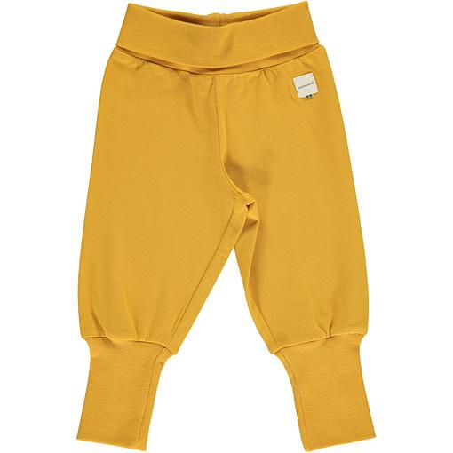 Maxomorra ochre rib pants organic cotton ~ solid (86/92cm 18-24m) 1