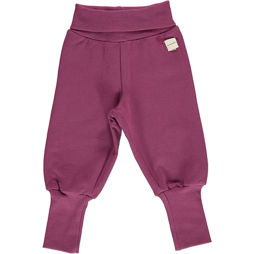 Maxomorra plum rib pants organic cotton ~ solid 1