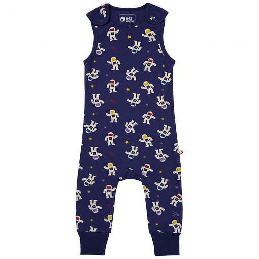 Astronaut dungarees by Piccalilly in organic cotton (92cm 18-24 months) 1