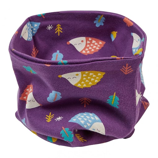 Neckwarmer in hedgehog print by Piccalilly - child 1