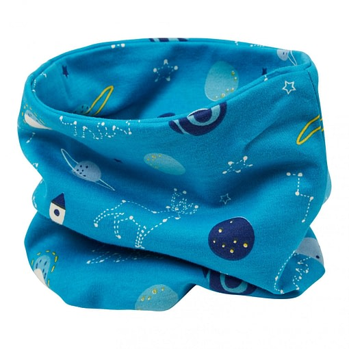 Neckwarmer in space print by Piccalilly - child 1